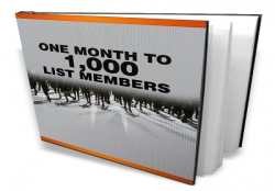 One Month To 1000 List Members